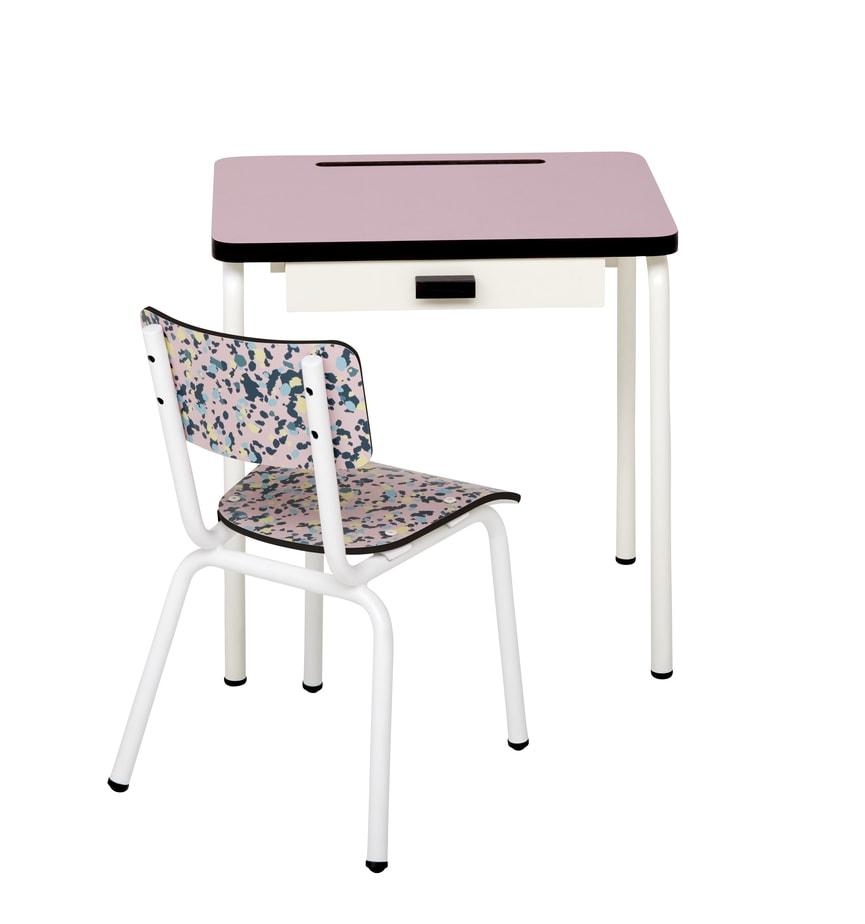 chaise enfant chaises d 39 colier little suzie mineral rose. Black Bedroom Furniture Sets. Home Design Ideas