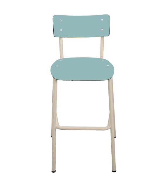 chaise de bar tabourets de bar formica suzie 65cm bleu jade. Black Bedroom Furniture Sets. Home Design Ideas