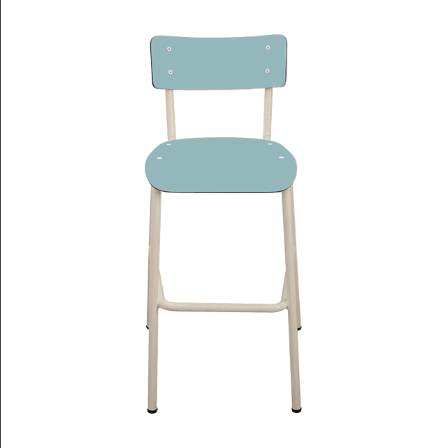 chaise de bar tabourets de bar formica suzie 65cm bleu jade. Black Bedroom Furniture Sets. Home Design Ideas