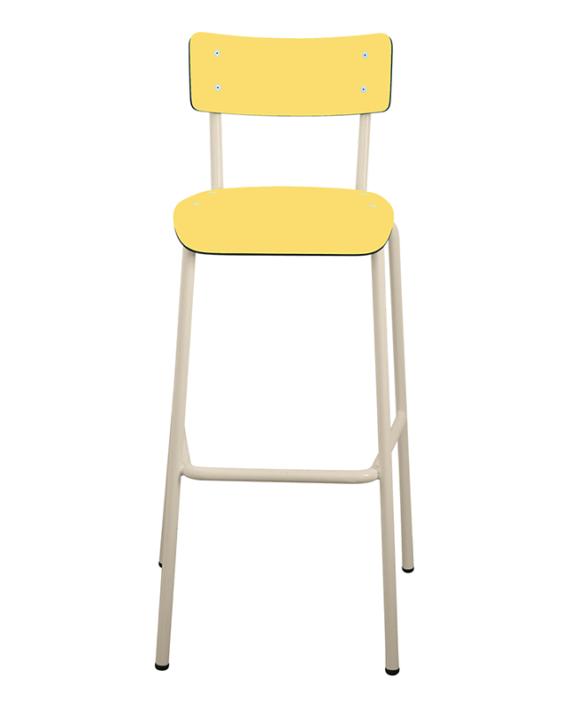 chaise de bar tabourets de bar formica suzie 75cm jaune. Black Bedroom Furniture Sets. Home Design Ideas