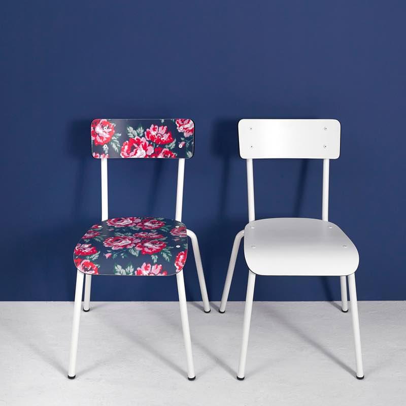 Chaise d 39 colier chaises design suzie r tro blanc - Chaise d ecolier vintage ...