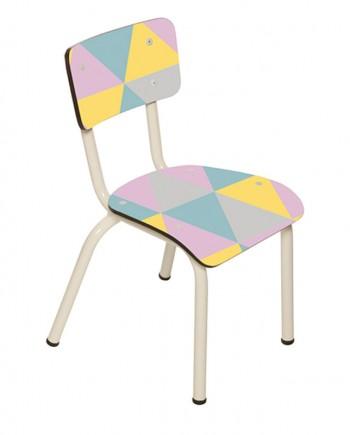 geometrique acidulé chaises enfantss ecolier