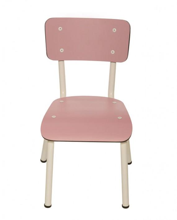 chaises ecolier ecole enfants rose