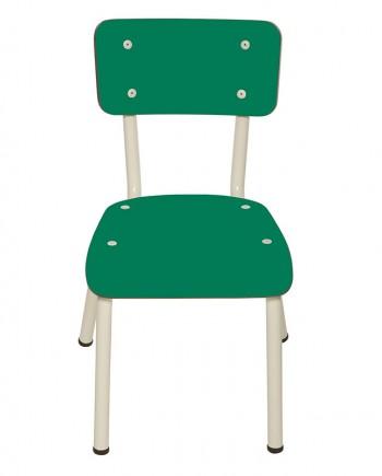 chaises enfants ecoliers bureaux vert