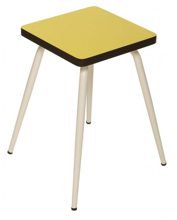 tabouret bas tabourets design marcel formica jaune citron. Black Bedroom Furniture Sets. Home Design Ideas