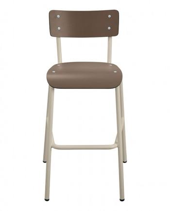 bar comptoir chaises haute taupe