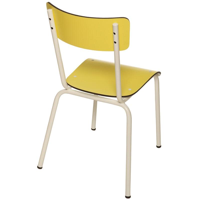adulte chaises jaune retro formica