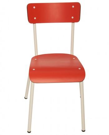 rouge chaises adulte etudiant