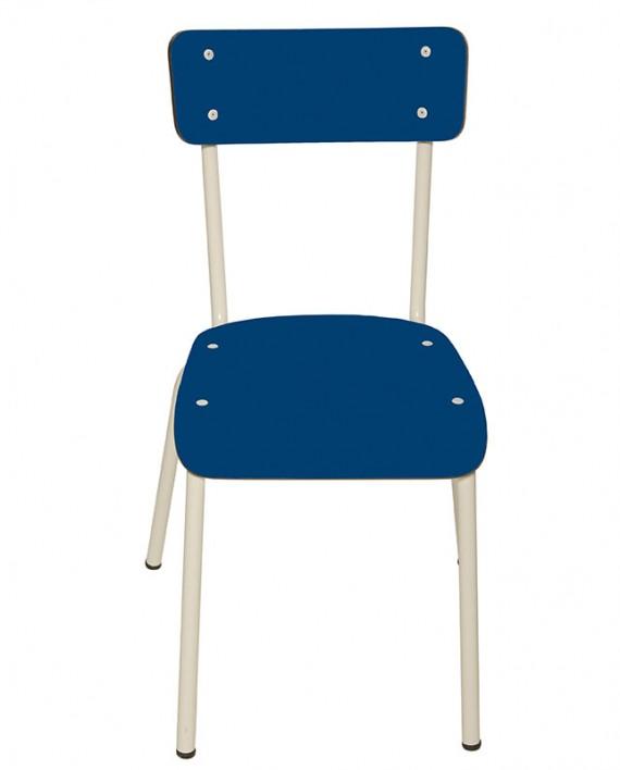 cobalt chaises cuisine salon table