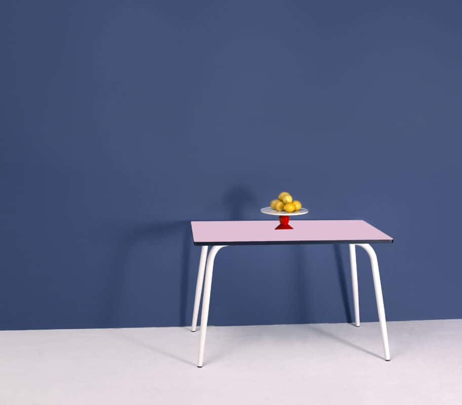Table manger tables r tro formica v ra 120x70 vieux rose for Table a manger 120x70