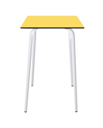 TABLE HAUTE FORMICA JAUNE