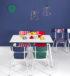 table blancs chaise bleu cobalt