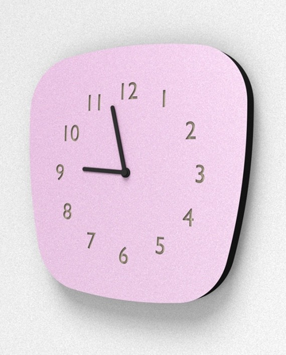 rose horloge girly heure murale