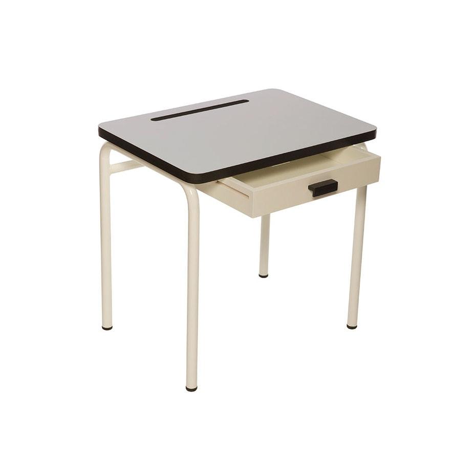 bureau enfant bureaux d 39 colier formica r gine gris perle. Black Bedroom Furniture Sets. Home Design Ideas