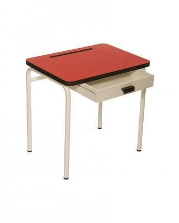 bureaux rouge couleurs tiroir