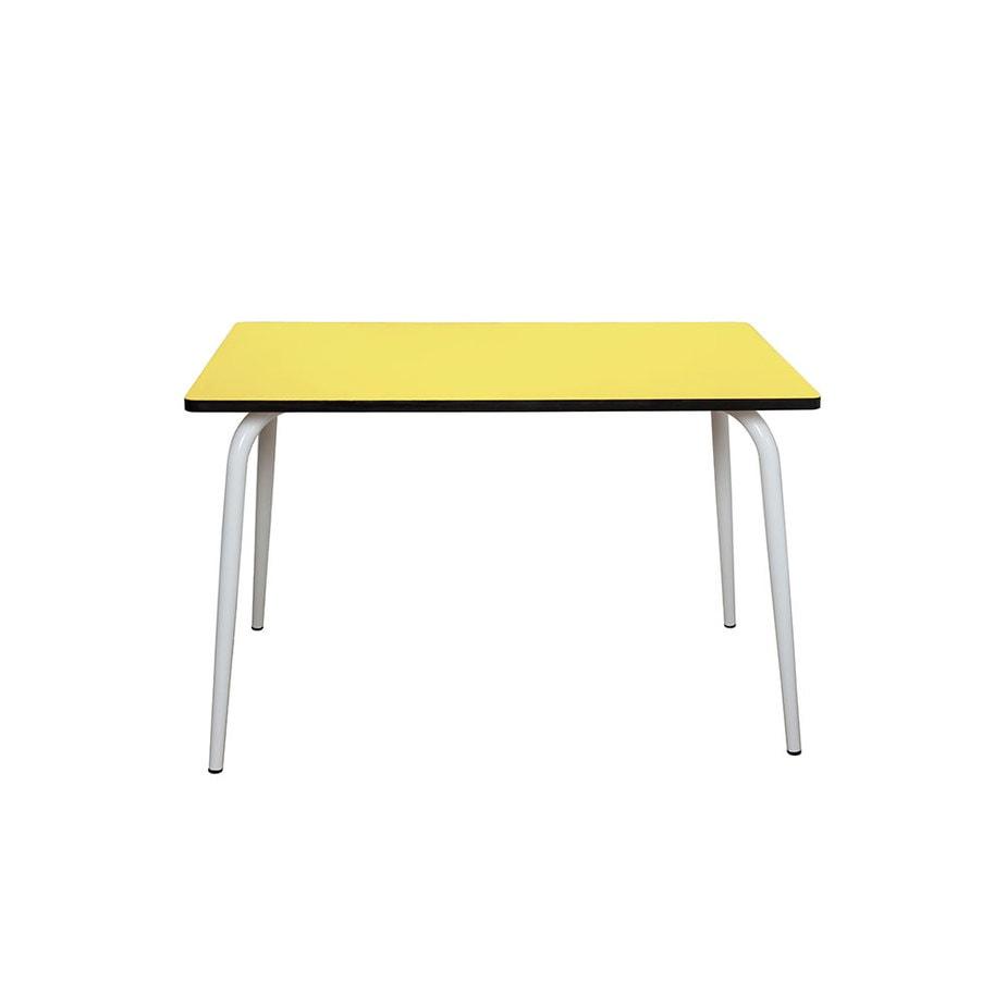 table manger tables r tro formica v ra 120x70 jaune citron. Black Bedroom Furniture Sets. Home Design Ideas