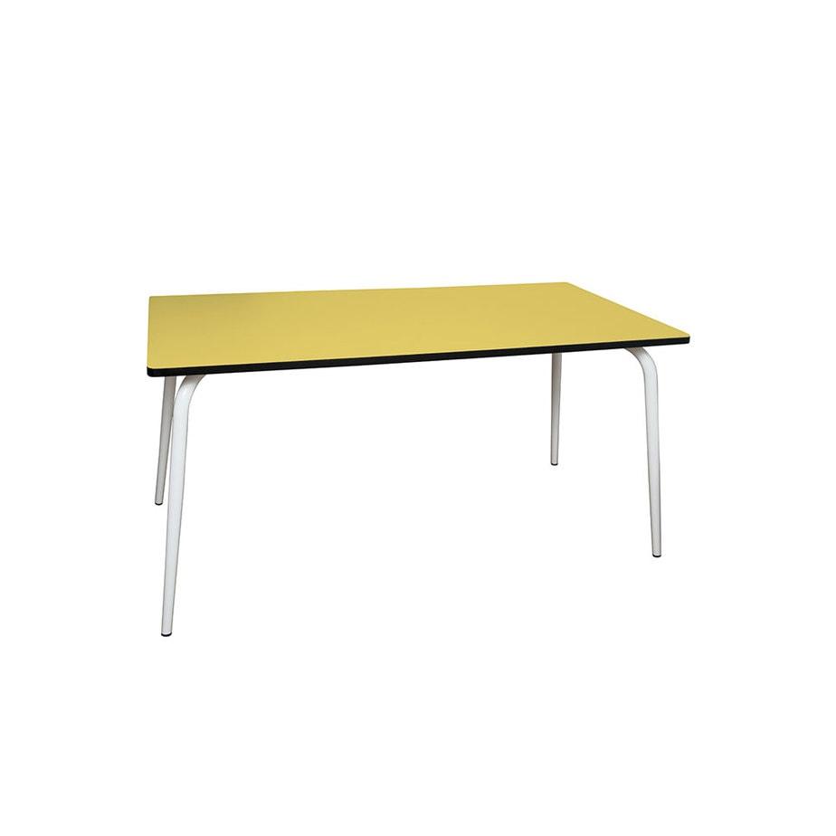 Table manger tables design v ra 160x80 formica jaune citron for Table design jaune
