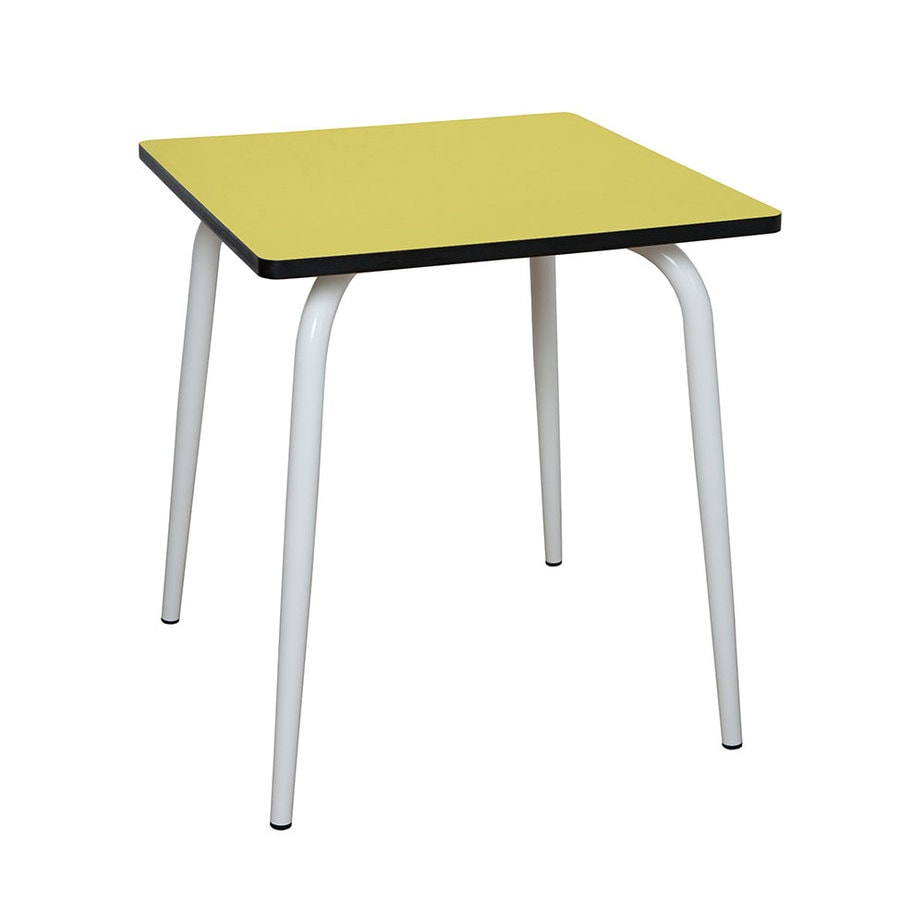 Table manger tables design v ra carr e formica jaune citron for Table design jaune