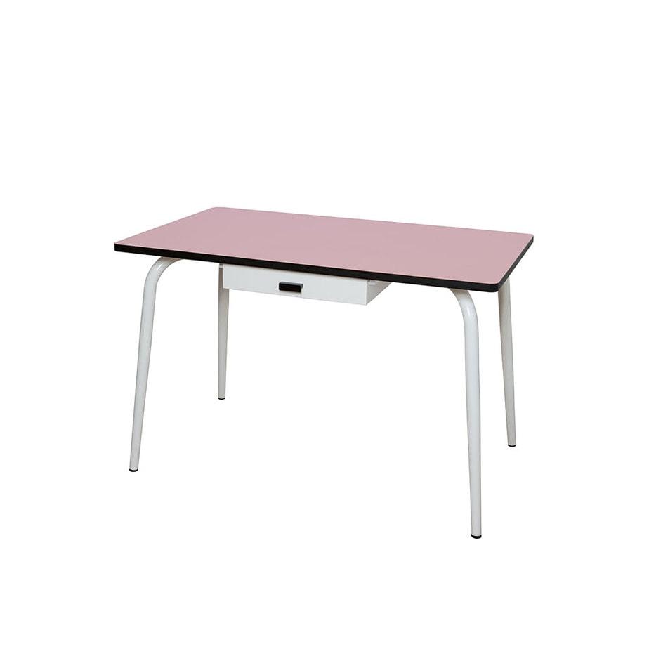 Table manger avec tiroir tables v ra 120x70 vieux rose for Table a manger 120x70