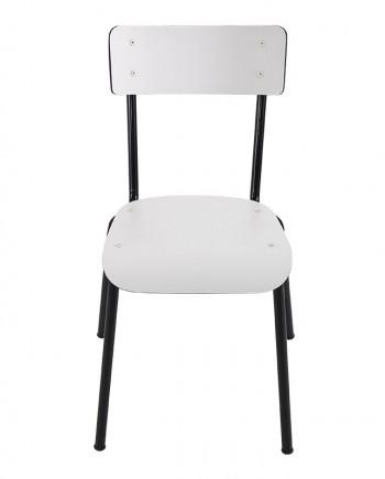 chaise bicolore blanc noir adulte