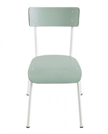 chaise suzie les gambettes menthe pieds blancs retro design adulte