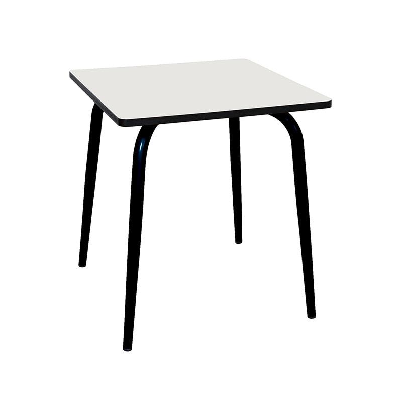 white vera table 70x70 with black legs - les gambettes