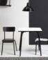 table bicolor blanc noir