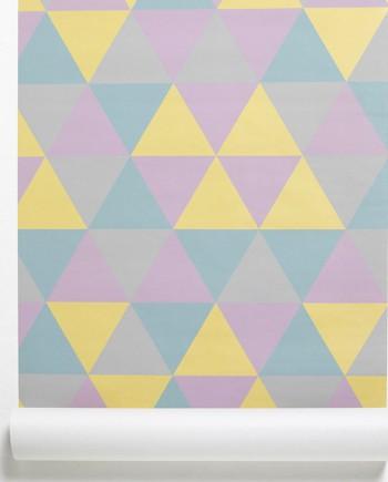 wall paper geometrique 60's