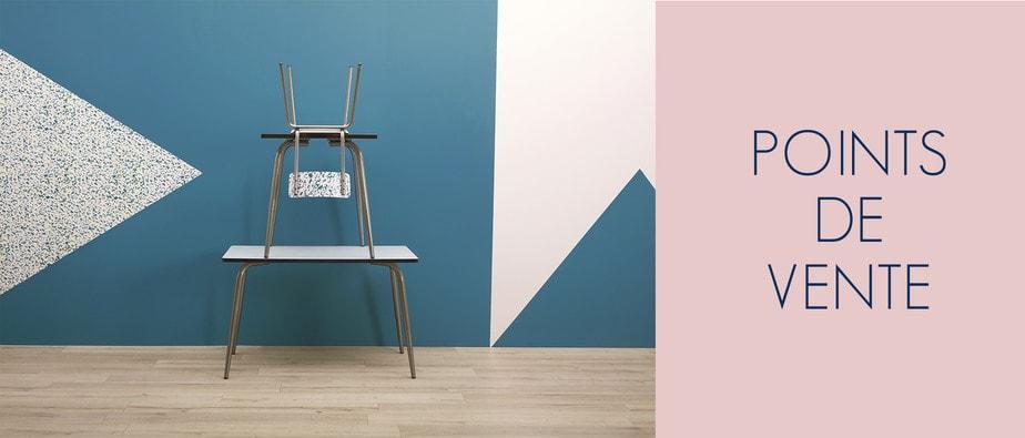 points de vente les gambettes mobilier retro design au style vintage 50s. Black Bedroom Furniture Sets. Home Design Ideas