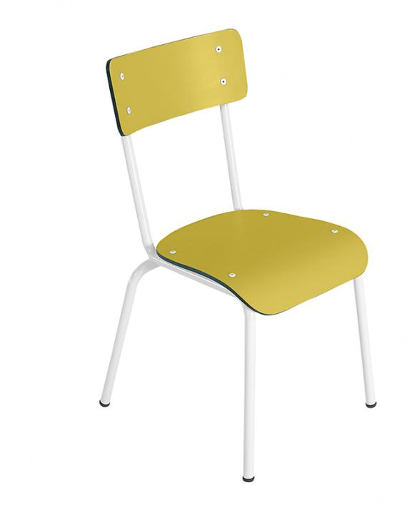 chaise élémentaire colette jaune