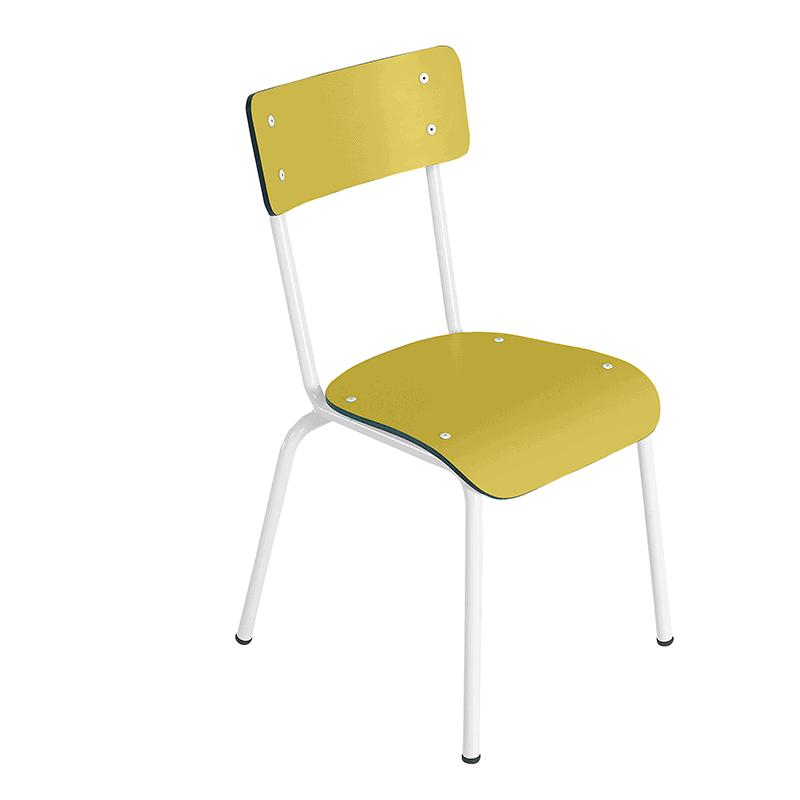 Chaise d 39 colier chaises design design colette jaune citron for Chaise de bureau jaune