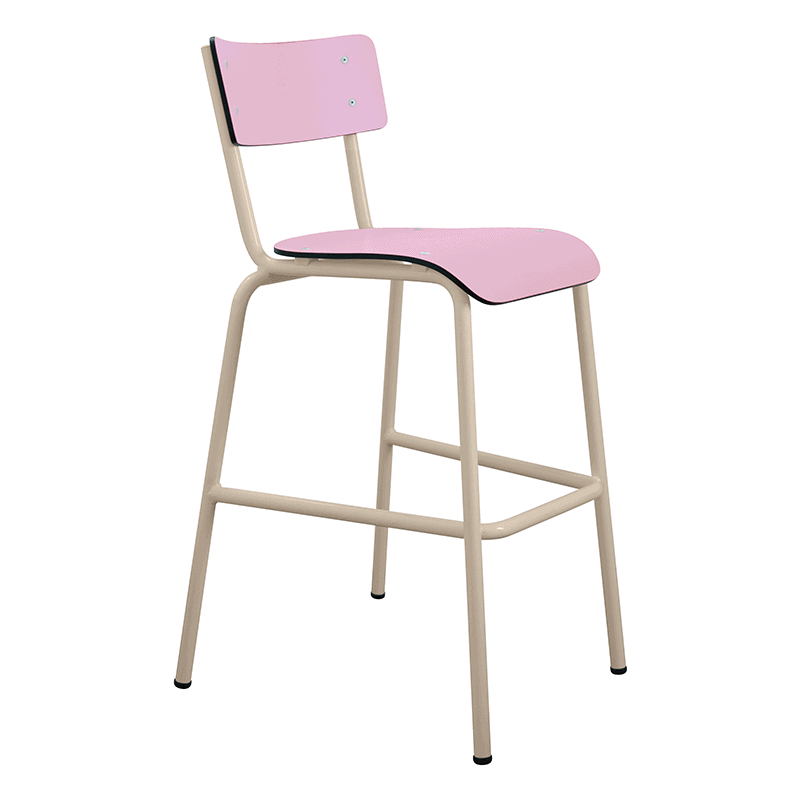 chaise de bar tabourets de bar formica suzie 65cm rose. Black Bedroom Furniture Sets. Home Design Ideas