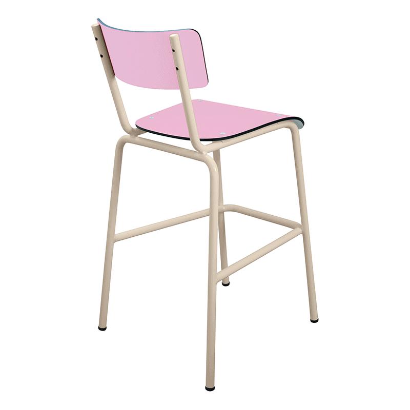 Chaise de bar tabourets de bar formica suzie 65cm rose for Chaise 65 cm