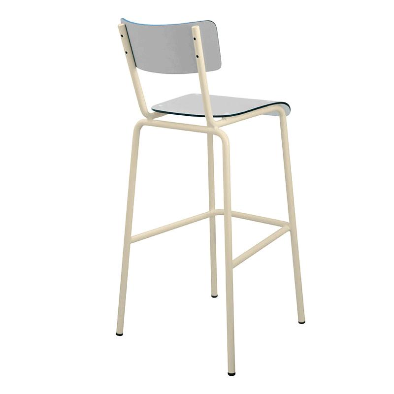 chaise de bar tabourets de bar formica suzie 75cm gris. Black Bedroom Furniture Sets. Home Design Ideas