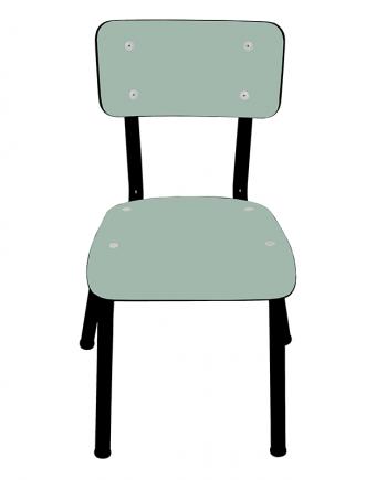 chaise menthe pieds noirs vintage design 50s