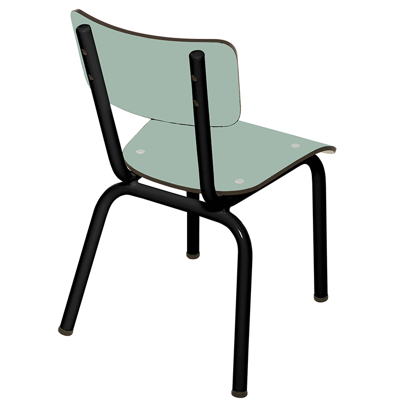 Chaise enfant chaises d 39 cole formica little suzie menthe for Chaise 3 pieds