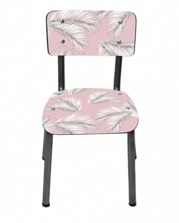 chaise enfants palme rose