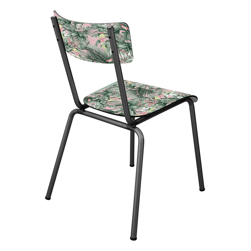 Chaise d 39 colier chaise design suzie r tro jungle tropical for Chaise 3 pieds
