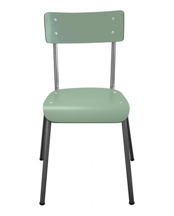 Chaise d'écolier Adulte Suzie les gambettes Vert Kaki pieds Bruts retro design