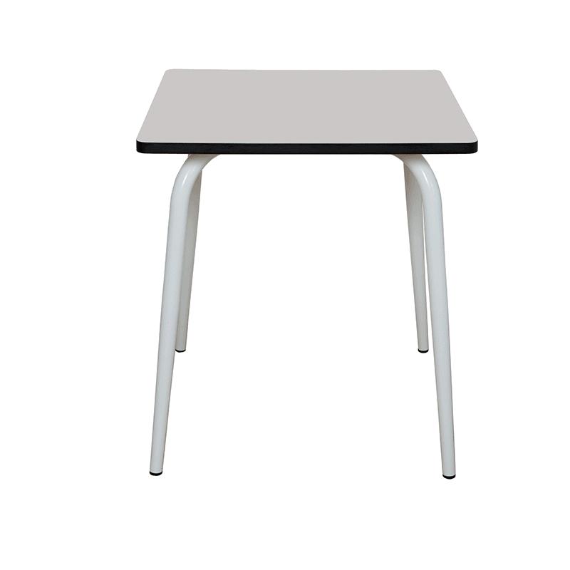 light grey vera table 70x70 - les gambettes