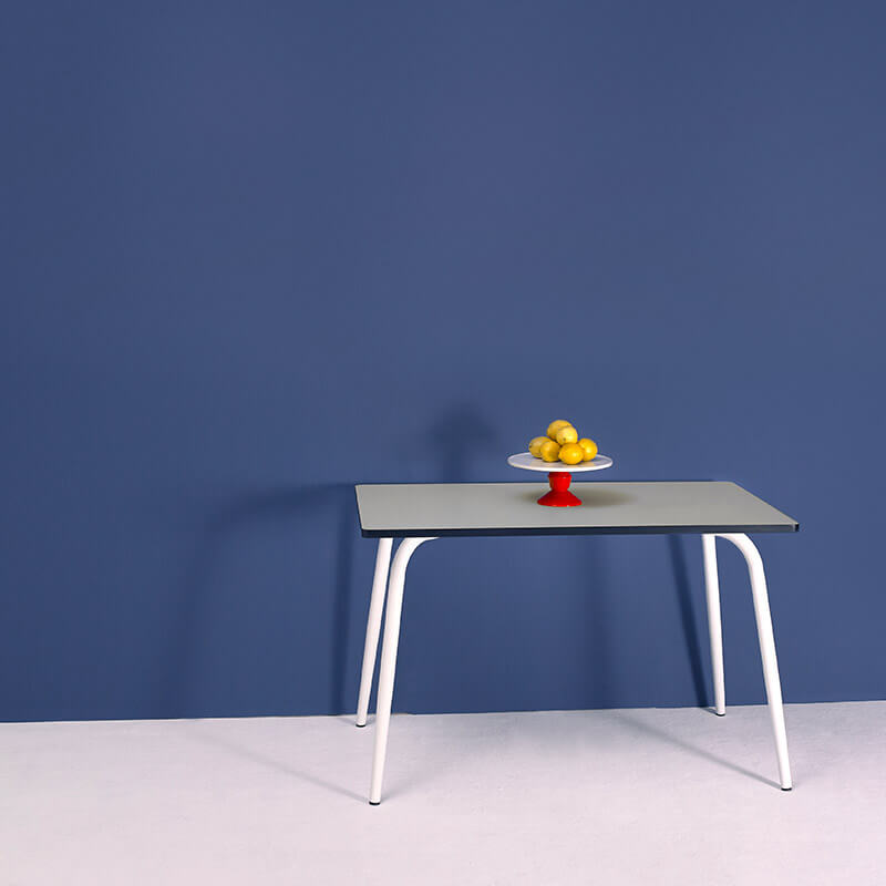 Table manger tables r tro formica v ra 120x70 gris perle for Table a manger 120x70