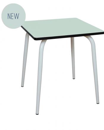table 70x70 vert menthe retro design