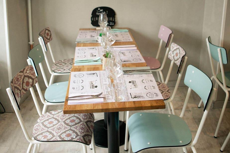 atelier gourmand les gambettes decoration formica motif mobilier