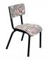 chaise suzie arty imprimé vintage rayures blanc noir fleurs retro design