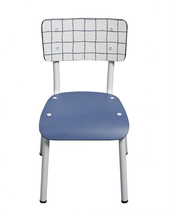 chaise check imprimé carreaux