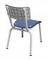chaise little susie check imprimé carreaux blanc bleu vintage retor design 50s