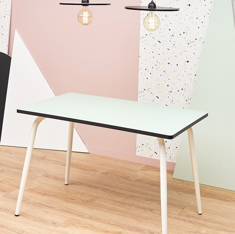 Table manger tables r tro formica v ra 120x70 blanc for Table a manger 120x70