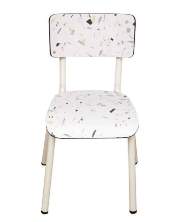 chaise enfant formica terrazzo