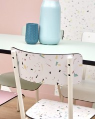 photos confettis chaise