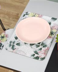 Set de table mozaique table gris perle
